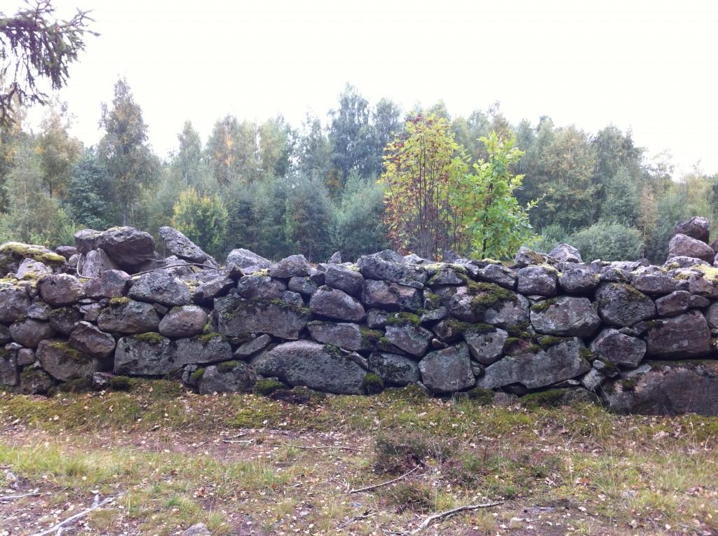 Vacker stenmur